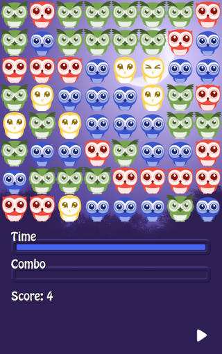 Gameplay screenshot of Puzzowl